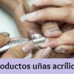 Productos uñas acrílicas